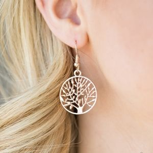 """TREE Ring Circus"" - Rose Gold Tree Earrings"